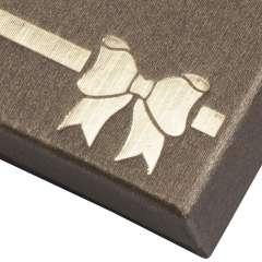 Pudełko TINA kokardka bransoletka brązowe