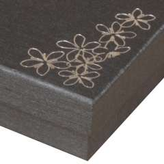 Pudełko TINA kwiatki bransoletka grafitowe