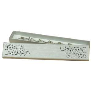 Pudełko LENA  brans.srebrne+Czarny
