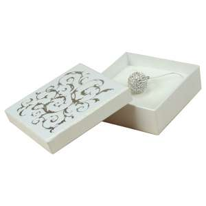LENA Big set Jewellery Box - White + silver print