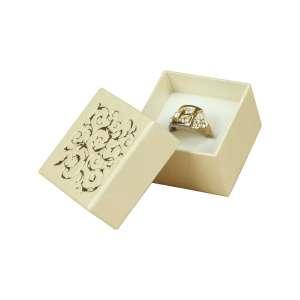 Pudełko LENA pierśc.Ecru+Złoty nadruk