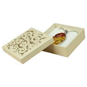 Pudełko LENA uniw.duże Ecru+Złoty nadruk