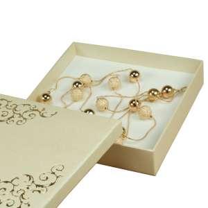 Pudełko LENA kolia Ecru+Złoty nadruk