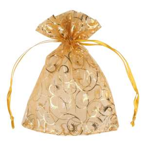Organza Bag with pattern 12x16 cm.