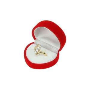Pudełko ANA serce czerwono-białe
