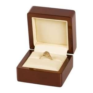 Pudełko FORTE pierścionek ecru