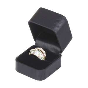SATIN Ring Jewellery Box - Black