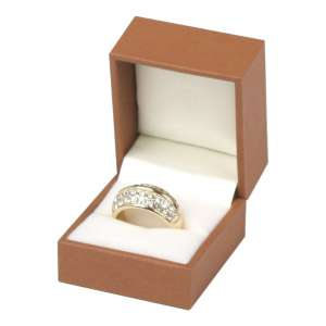 EVITA Ring Jewellery Box - brown