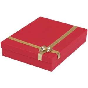 Pudełko RITA kolia czerwone