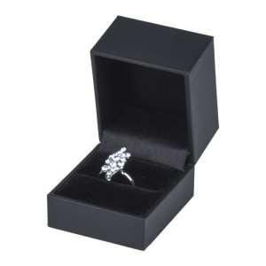 Pudełko OLIVIA pierścionek czarne