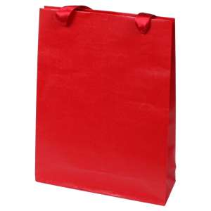 EMI Paper Bag 18x26x6cm. Red