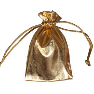 Jewellery Pouch 8x12 cm. - Gold