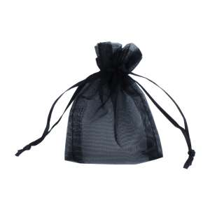 Organza Bag 6x8 cm. - Black