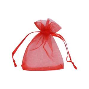 Organza Bag 7x9 cm. - Red