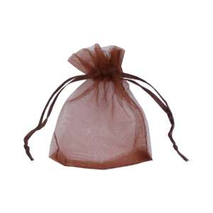 Organza Bag 7x9 cm. - brown