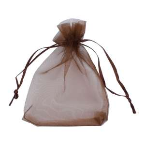 Organza Bag 9x12 cm. - brown