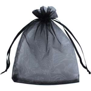 Organza Bag 12x17 cm. - Black