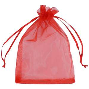 Organza Bag 12x17 cm. - Red