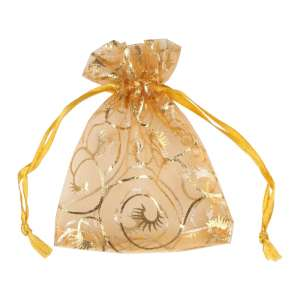 Organza Bag with pattern 9x12 cm.