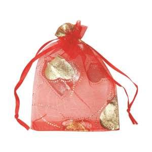 Organza Bag  9x13 cm. - Hearts