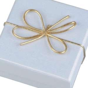 Kokardka elastyczna obwód 10 cm. złota - 50 szt.