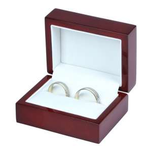 PRIMO Wedding Rings Jewellery Box - Burgundy
