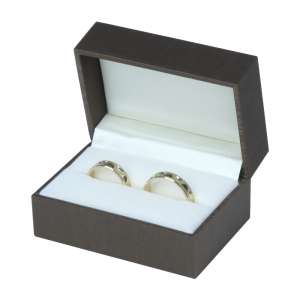LARA Wedding Rings Jewellery Box - brown
