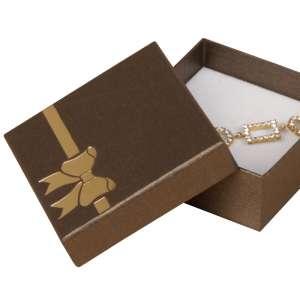 Pudełko TINA kokardka uniw.duże brązowe