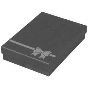 Pudełko TINA kokardka kolia grafitowe