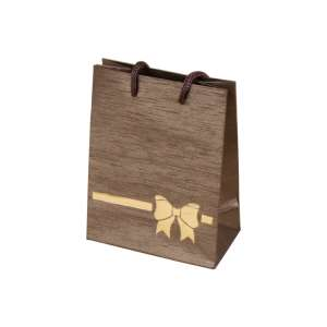 TINA BOW Paper Bag 9x12x5 cm. brown
