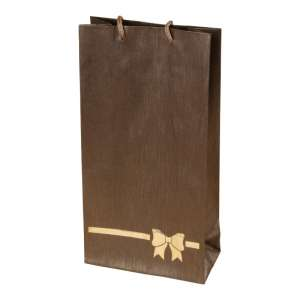 TINA BOW Paper Bag 12x24x6 cm. brown