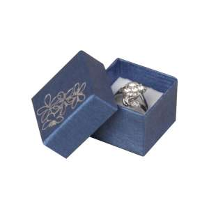 TINA FLOWERS  Ring Jewellery Box - Blue