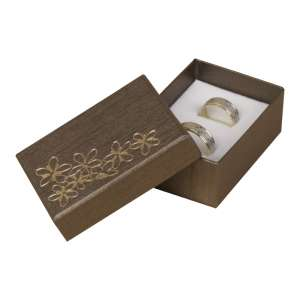 TINA FLOWERS Small Set Jewellery Box - brown