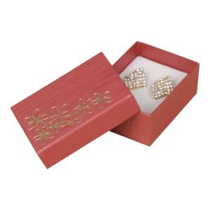 TINA FLOWERS Small Set Jewellery Box - Burgundy