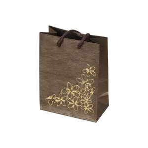 TINA FLOWERS Paper Bag 9x12x5 cm. brown