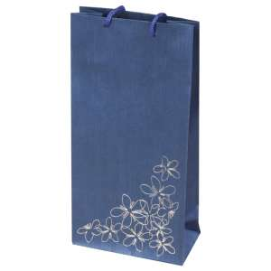 TINA FLOWERS Paper Bag 12x24x6 cm. Blue