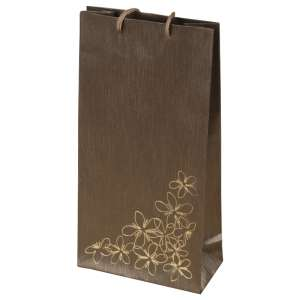 TINA FLOWERS Paper Bag 12x24x6 cm. brown