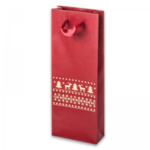 EMI Paper Bag 9,5x26x4 cm. Reindeers