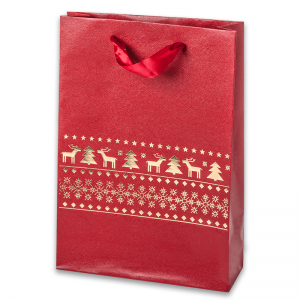EMI Paper Bag 18x26x6 cm. Reindeers