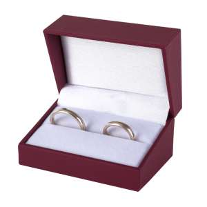IDA  Wedding Rings Jewellery Box - burgundy