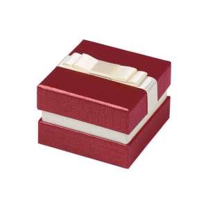 Pudełko DIANA pierścionek, obrączki bordowe