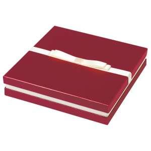 Pudełko DIANA kolia, zestaw bordowe