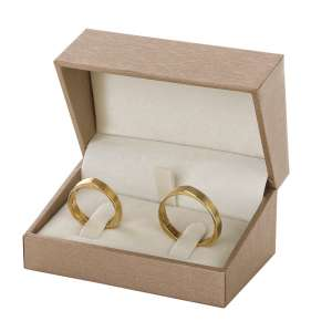 DARIA Wedding Rings Jewellery Box - gold