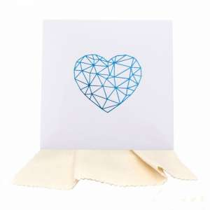 Gift Cleaning Cloths 14 x 14 cm. - Heart