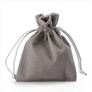 Jewellery Welur Pouch FIONA 10x13 cm. - Grey