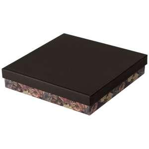 CARLA Necklace Jewellery Box - black + flowers