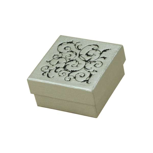 LENA Small set Jewellery Box - silver + Black print