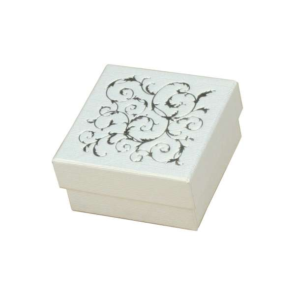 LENA Small set Jewellery Box - White + silver print
