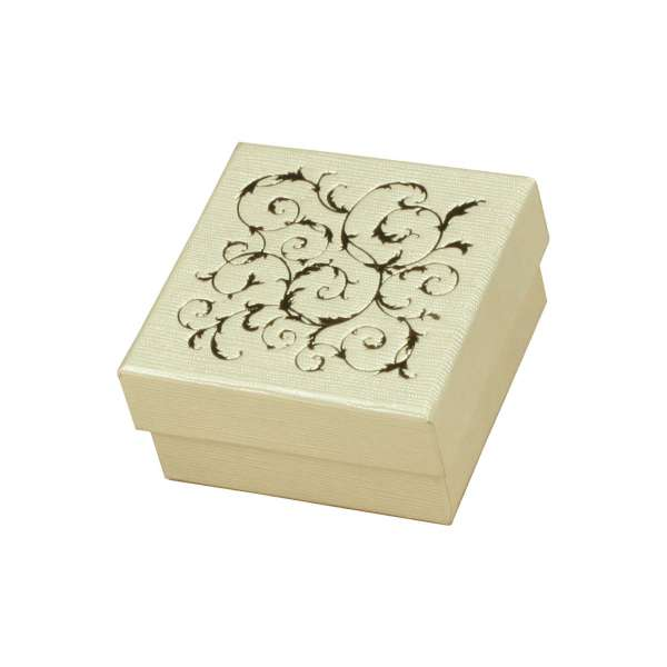 LENA Small set Jewellery Box - Ecru + gold print