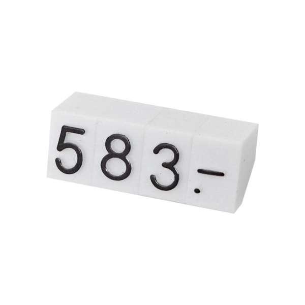 Cenówki zestaw 230 szt.- czarne cyfry 5 mm